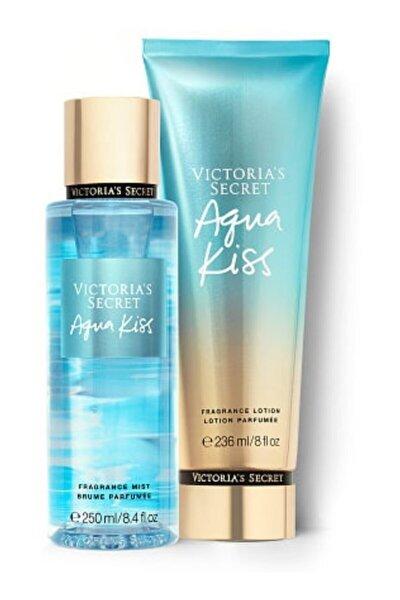 Victoria's Secret Agua Kıss New Collection Vücut Spreyi,vücut Losyonu 2 Li Set