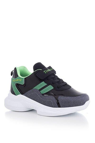 Tonny Black Siyah Yeşil Çocuk Spor Ayakkabı Tbk5