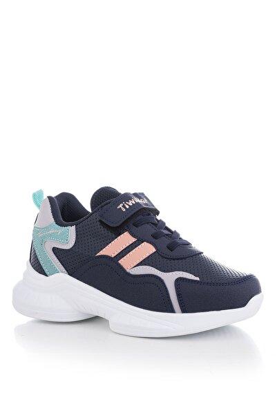 Tonny Black Lacivert Gri Çocuk Spor Ayakkabı Tbk5