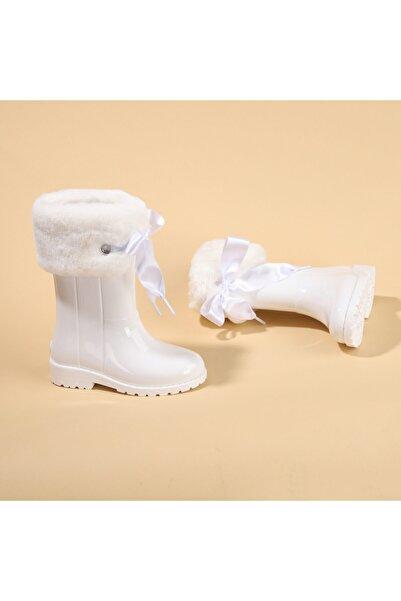 IGOR Kız Çocuk Beyaz Su Geçirmez Yağmur Kar Çizmesi