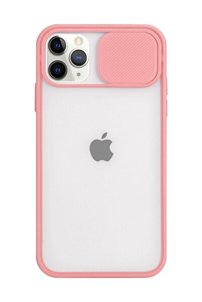 Twsbi Iphone 11 Pro Max Slayt Kamera Lens Korumalı Pembe Telefon Kılıfı