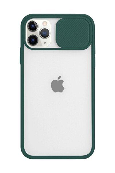 Twsbi Koyu Yeşil Iphone 11 Pro Max Slayt Kamera Lens Korumalı Telefon Kılıfı