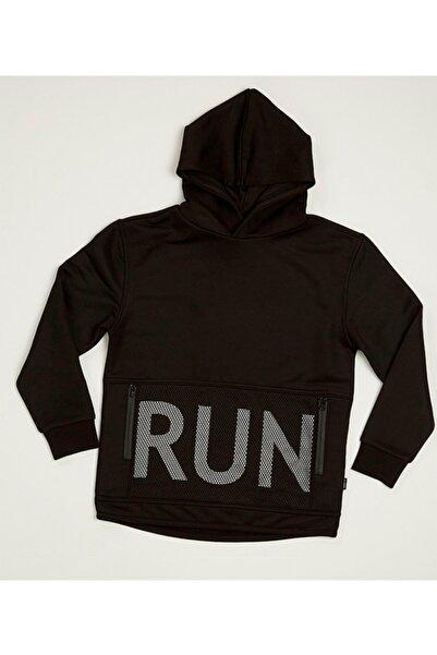 Wonder Kıds Unisex Çocuk Siyah Kapüşonlu Sweatshirt