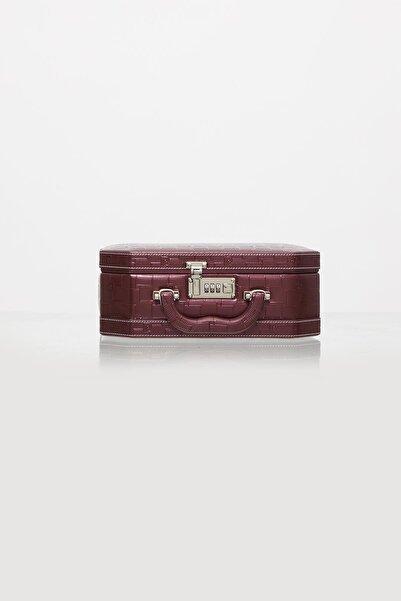 Pierre Cardin Deri Kaplamalı, Şifreli, Aynalı Tıraş & Makyaj & Takı Kutusu - 560 Bordo