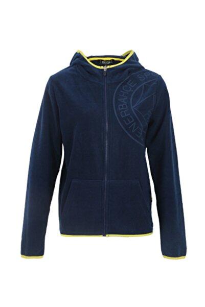 Fenerbahçe Kadın Lacivert Trıbun Yakmalı Logo Polar Sweatshirt