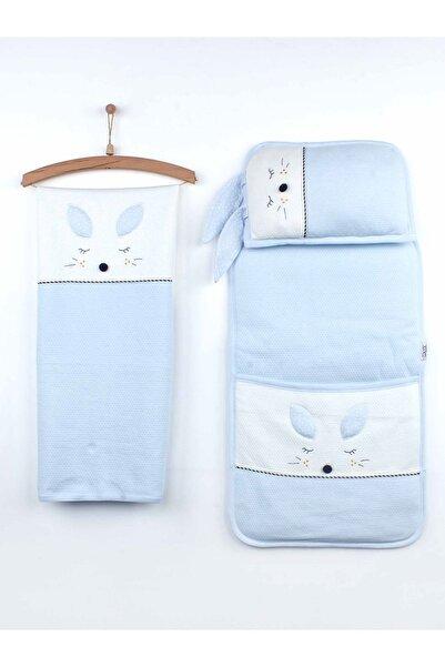 Modakids Mavi Erkek Bebek Battaniye Yastık Ve Kundak Alt Açma Seti
