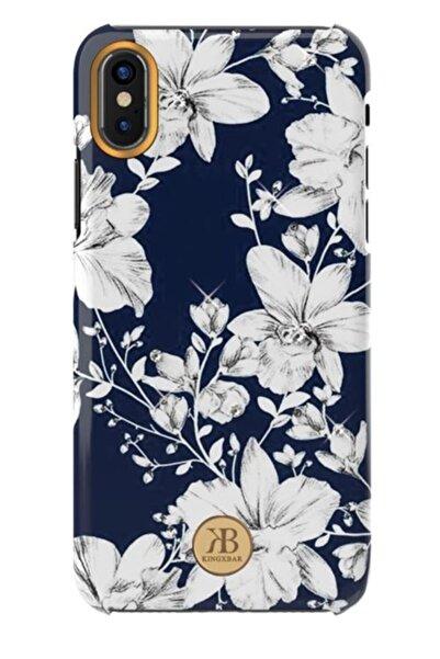 MobilCadde Kingxbar Iphone X / Xs Swarovski Taşlı Lily Rubber Kılıf