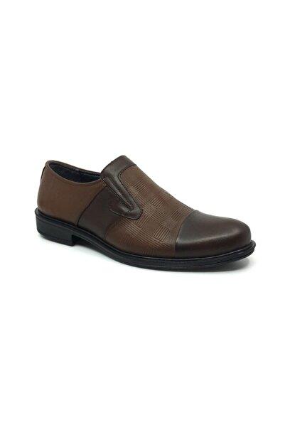 Taşpınar Erkek Kahverengi Deri Klasik  Ayakkabı