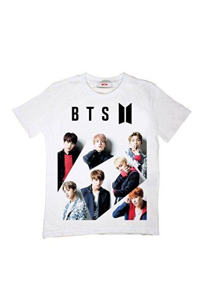 TakeTshirt Unısex Beyaz Çocuk BTS Tişört