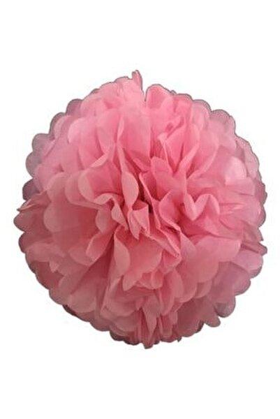 Pembe Ponpon Gramafon Çiçek Kağıt Doğum Günü Parti Süsü 1 Adet