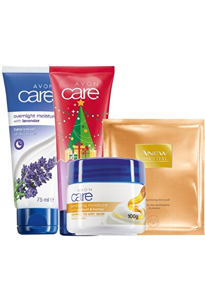 AVON Anew Kağıt Yüz Maskesi Ve Care El Yüz Nemlendirme Paketi 8681298707196