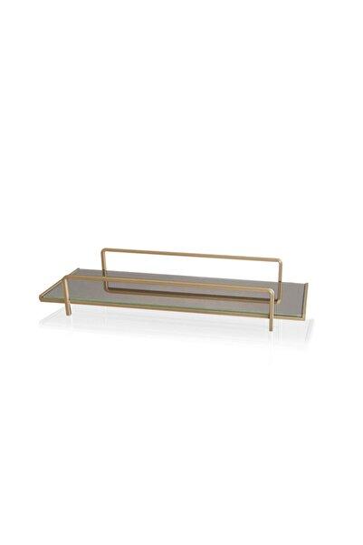 The Mia Kozmetik Standı Gold - 6x37x13 Cm