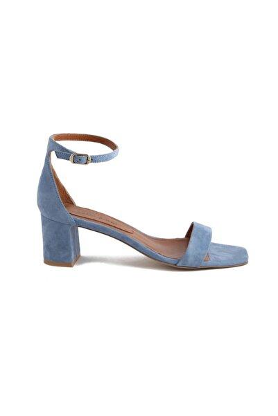 Sofia Baldi Kadın Mavi Süet Zanita Topuklu Ayakkabı