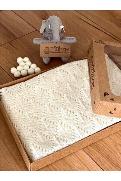 minik ay Yeni Doğan Triko Bebek Battaniyesi Royal