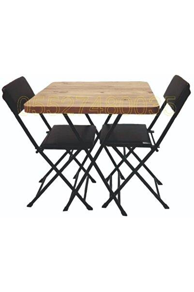 Ars Efes Antik Kare Mutfak Ders Çalışma Balkon Masası Sandalye Kırma Masa Katlanır Masa Sandalye