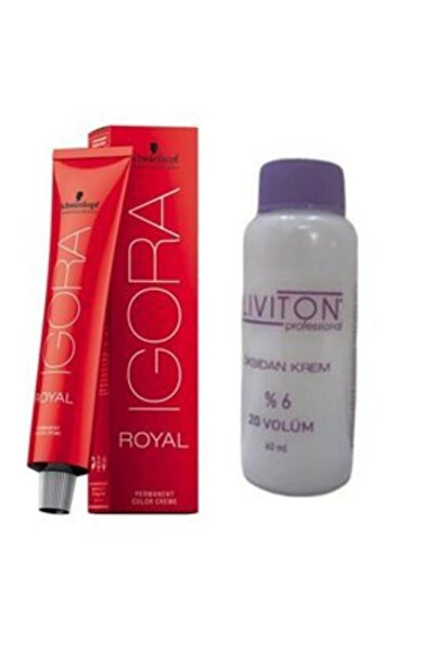 Igora Royal Saç Boyası 6.0 Koyu Kumral 60 Ml + Liviton Mini Oksidan 20 Vol.