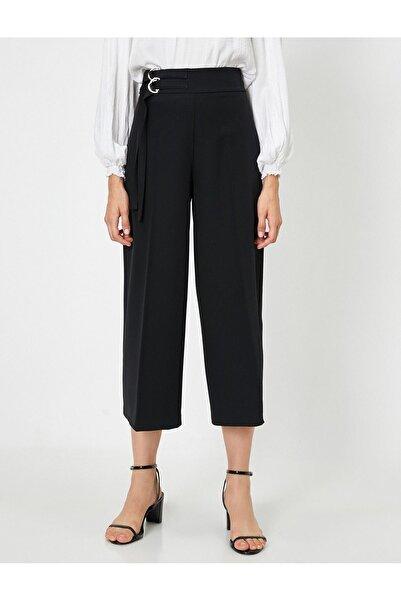 Koton Kadın Siyah Kanvas Pantolon