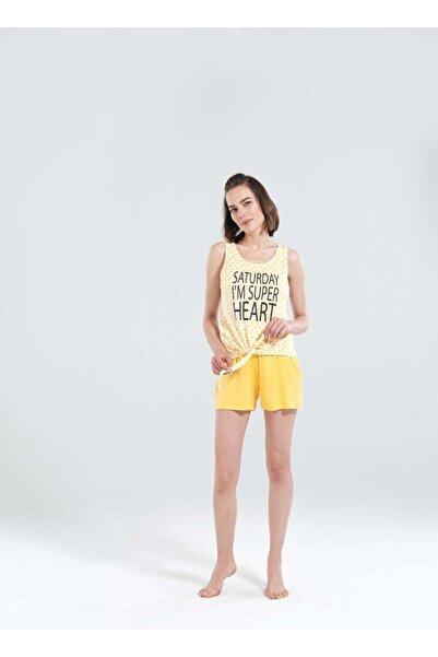 Blackspade Kadın Sarı Kısa Pijama Takımı 50177