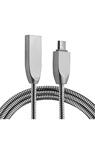 Ally Mobile Ally Micro Usb Zinc Alloy Dayanıklı 2,4 A Metal 1mm Usb Kablo