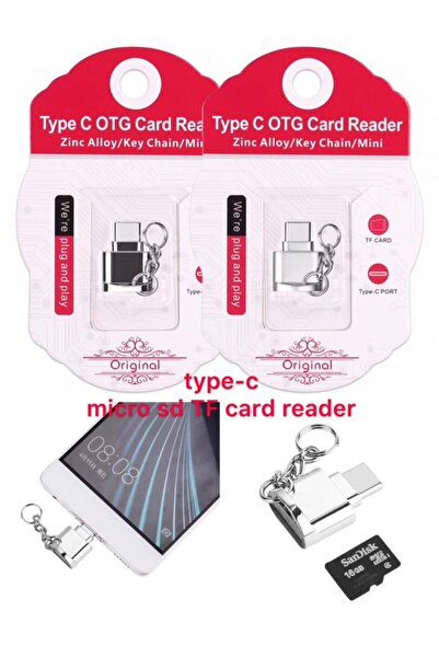 Ally Mobile Ally Mini Anahtarlık Type-c Otg Ve Hafıza Kart Okuyucu