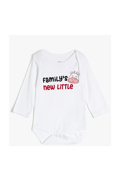 Koton Kids Beyaz Kız Bebek Bebek Body & Zıbın