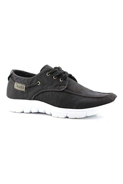 TREND Erkek Siyah Keten Ayakkabı