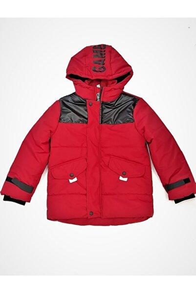 Midimod Erkek Çocuk Kırmızı Şapkalı Ve Cepli Şişme Mont