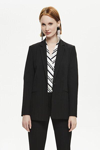 Naramaxx Kadın Siyah Klasik Ceket