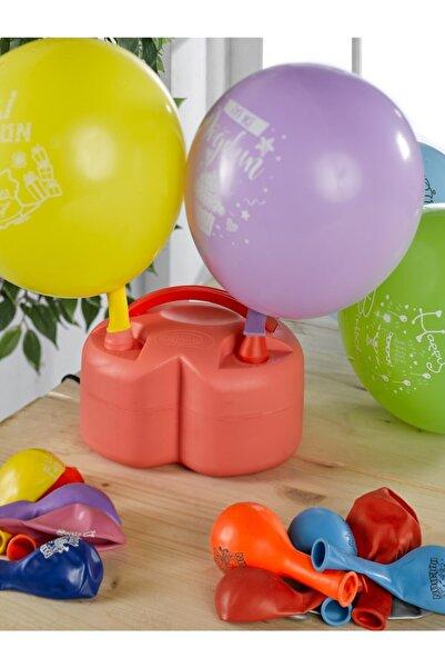BRİZ Çift Çıkışlı Yarı Otomatik Elektrikli Balon Pompası Kalp Şeklinde Pilates Topu Şişirme Pompası