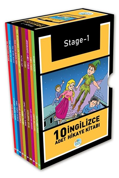 Mavi Çatı Yayınları Stage-1 Ingilizce Hikaye Seti 10 Kitap Maviçatı Yayınları