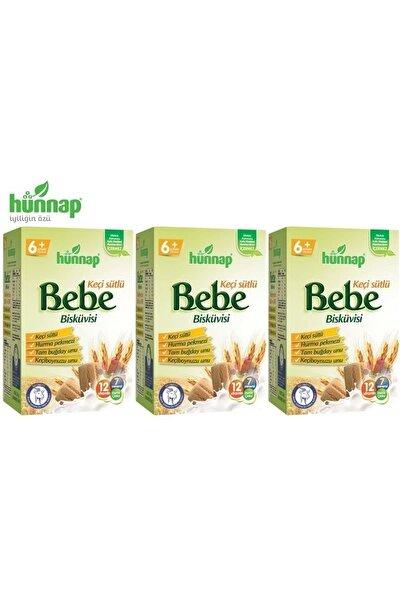 Hünnap Hunnap Bebe Bisküvisi Keçi Sütlü 400 Gr X 3 Adet