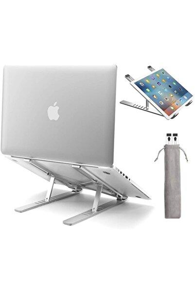 İthal Alüminyum Manyetik Katlanabilir Ayarlı Dizüstü Laptop Standı