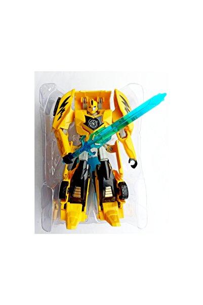 Meva Market Transformers Bumblebee Robot Arabaya Dönüşebilen Kaliteli 15cm.