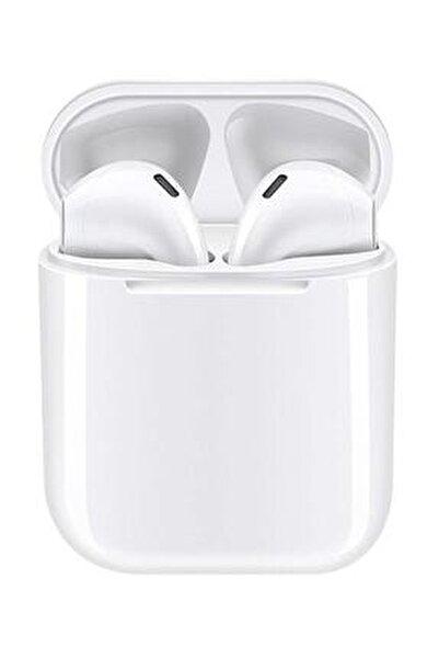 Airpods I12 Beyaz Iphone Android Universal Bluetooth Kulaklık Hd Ses Kalitesi