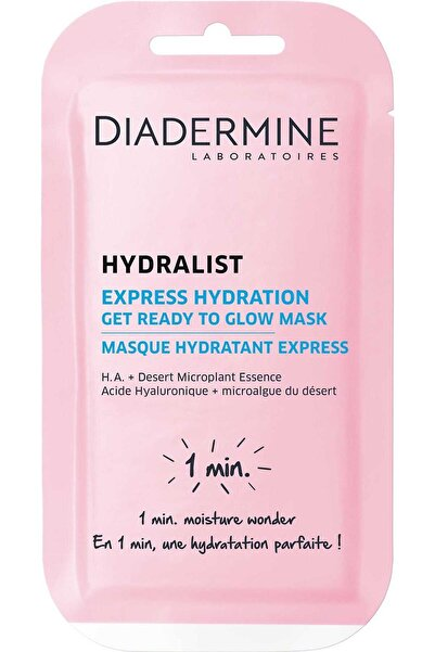 Diadermine Nemlendirici Maske Hydralist Express Hydration Get Ready To Glow 8 ml