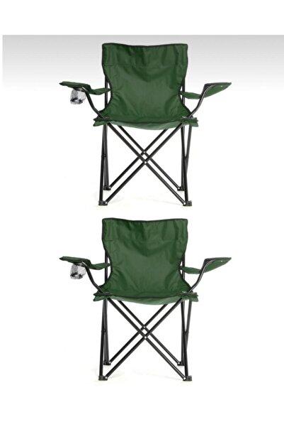 First Class Yeşil 2 Adet Katlanabilir Kamp Sandalyesi