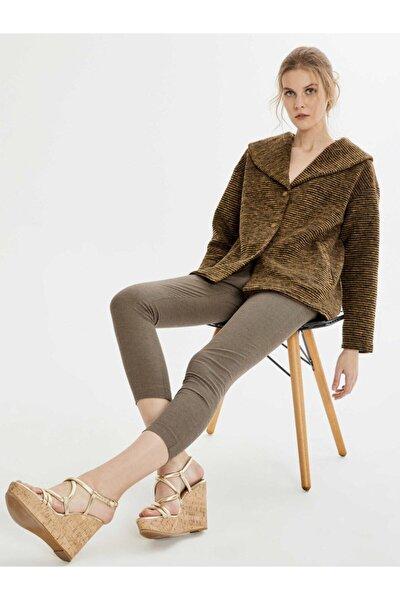 Xint Kadın Kahverengi Normal Bel Pamuklu Skinny Fit Pantolon