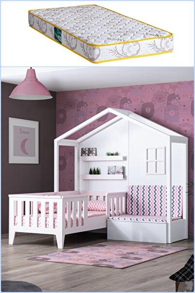 Setay Montessori Yatak, Çeşme Sedirli Montessori Yatak Pembe + Comfort Yatak