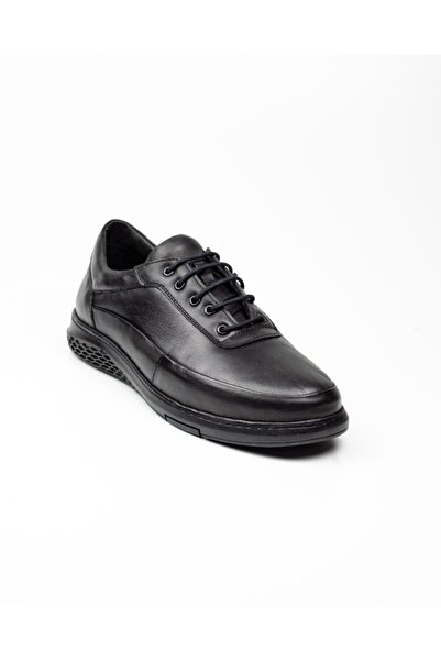 Nobel Erkek Bağcıklı Siyah Deri Günlük Ayakkabı