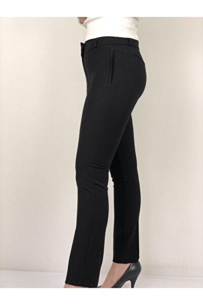 AYHAN Kadın Siyah Kumaş Pantolon
