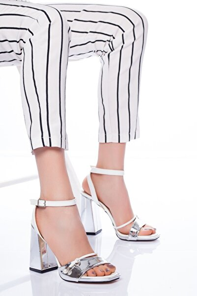 VİVA Kadın Doyle Topuklu Ayakkabı Gümüş