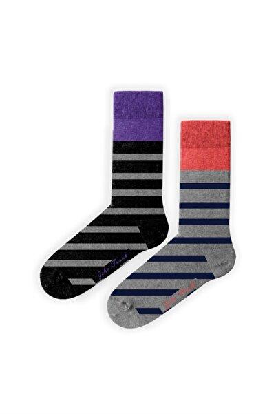 John Frank Kadın Renkli Ikili Uzun Çorap