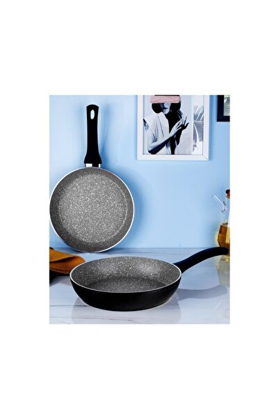 Hisar Troy Granit 2 Parça Siyah Tava Seti (20 Cm+28 Cm)