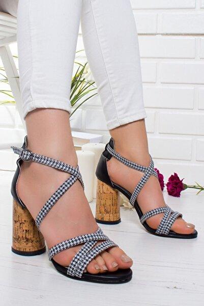 VİVA Kadın Siyah Topuklu Ayakkabı