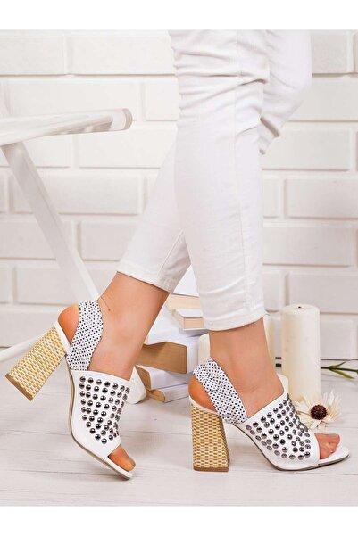 VİVA Kadın Beyaz Gina Topuklu Ayakkabı