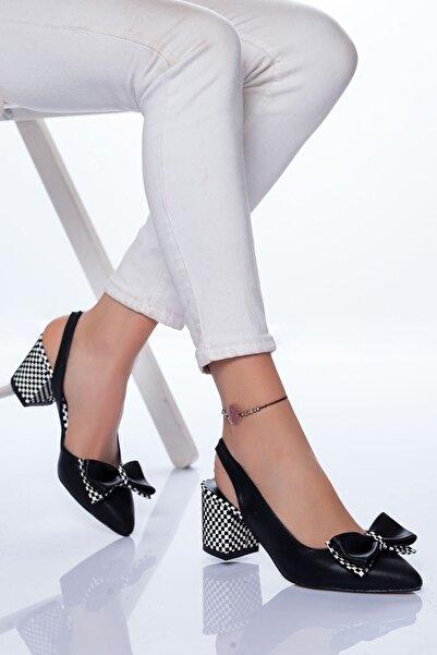 VİVA Kadın Siyah Chano Topuklu Ayakkabı
