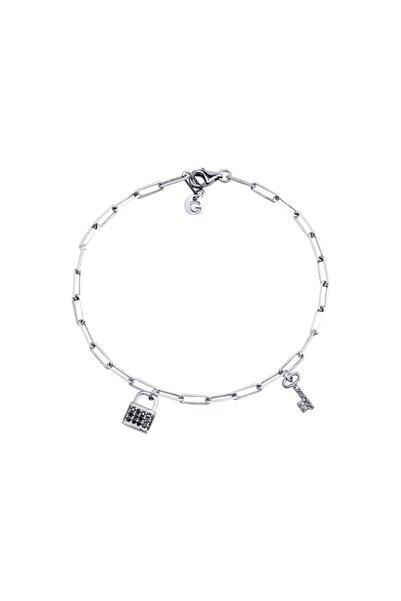 Gimora Madison Kilit & Anahtar Gümüş Bileklik