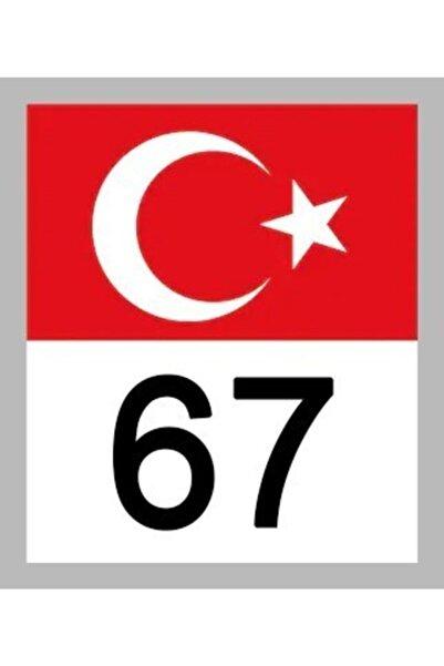 Apex 67 Zonguldak Türk Bayrağı Ve Plaka Kodu Ön Cam Sticker Yapıştırma