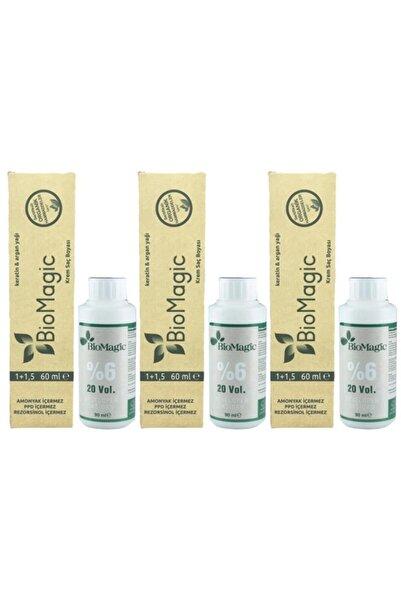 BIOMAGIC Organik Amonyaksız Saç Boyası Çikolata Kahve-66.07 ve Oksidan 3 Adet