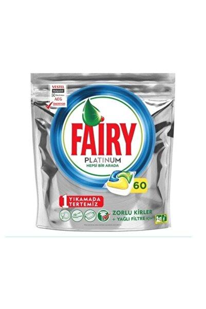 Fairy Platinum 60 Yıkama Bulaşık Makinesi Deterjanı Kapsülü Limon Kokulu